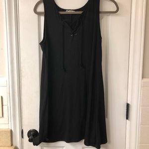 about a girl short black dress